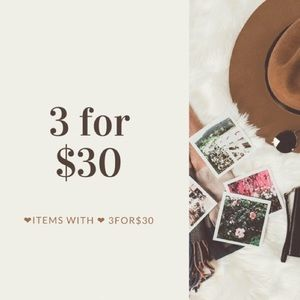 ❤️3 for $30 with free shipping